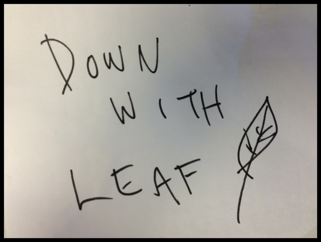 Down with Leaf