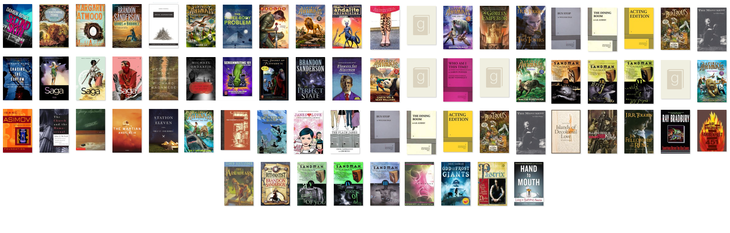 2015 Books list