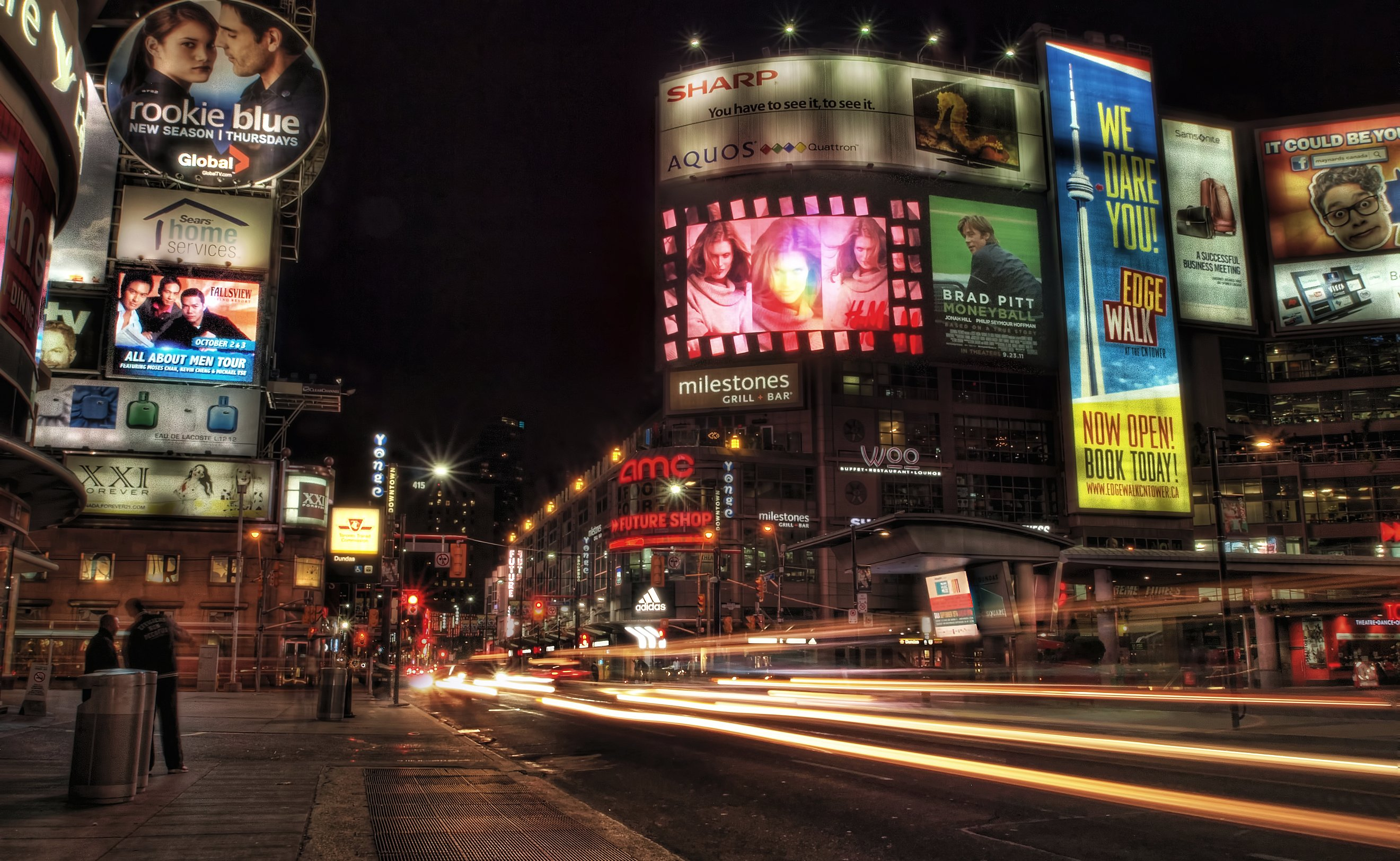 Dundas Square at Night
